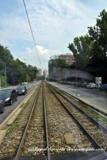 Tramway in the city