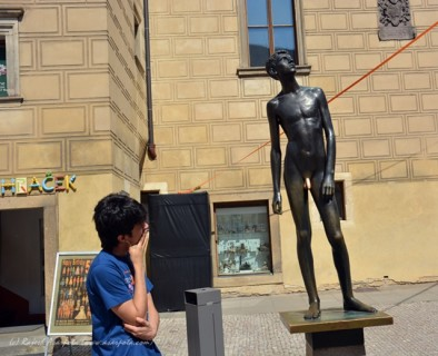 The Naked Boy Statue