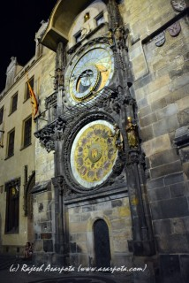 Astronomical Clock. Night Shot