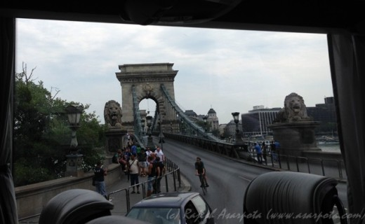 Chain Bridge from a Window